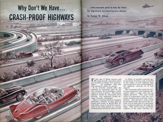 Crash-Proof Highways in: Mechanix Illustrated, Juni 1953, S. 58.