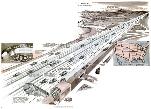 Automatischer Highway, in: Popular Science, Mai 1938, S. 28.
